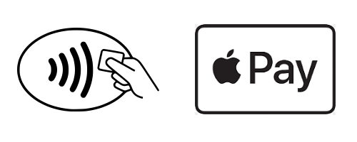 Contactless Payment logo and ApplePay logo