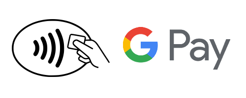 Contactless Payment logo and GooglePay logo